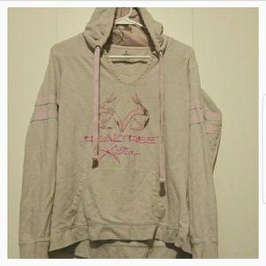 Realtree hooded pink camo sweatshirt